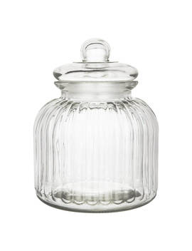 John Lewis & Partners Ribbed Glass Jar, 3 L by John Lewis & Partners