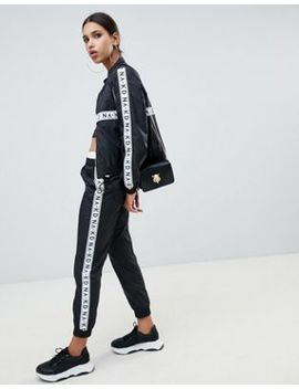 Na Kd Co Ord Logo Track Pants In Black by Na Kd