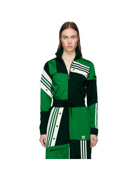 Green Deconstructed Track Jacket by Adidas Originals By DaniËlle Cathari