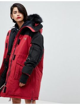 Tommy Hilfiger Icon Colourblock Parka by Tommy Hilfiger
