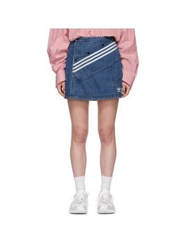 Blue Denim Miniskirt by Adidas Originals By DaniËlle Cathari