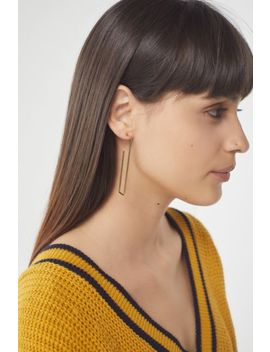 18k Gold Plated Geometric Shaped Hoop Earring by Urban Outfitters