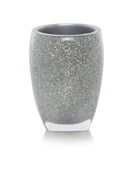 Silver Glitter Acrylic Tumbler by Asda