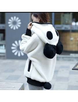 Cute Bear Ear Panda Winter Warm Hoodie Coat Women Hooded Jacket Outerwear Z5 by Feitong