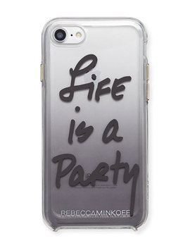 Life Is A Party Ombre Phone Case, Black by Rebecca Minkoff
