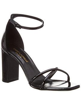 Saint Laurent Patent Sandal by Saint Laurent