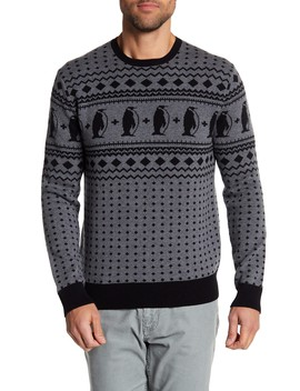 Penguin Pattern Sweater by Michael Bastian