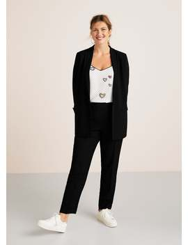 Flowy Suit Blazer by Mango