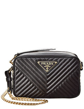 Prada Mini Diagramme Leather Shoulder Bag by Prada