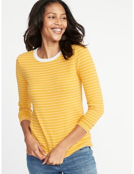 Slim Fit Soft Brushed Bracelet Sleeve Tee For Women by Old Navy