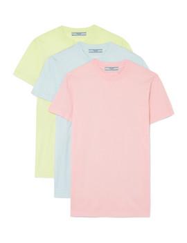 Lot De Trois T Shirts En Jersey De Coton by Prada