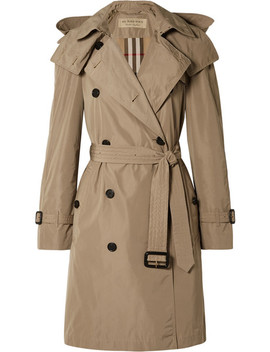 Trench Coat à Capuche En Tissu Imperméable The Amberford by Burberry