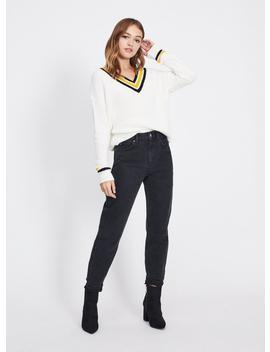Mom Arlo High Waist Slim Fit Black Jeans by Miss Selfridge