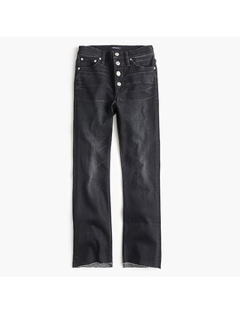 Petite Billie Demi Boot Crop Jean With Exposed Buttons In Charcoal Wash by J.Crew