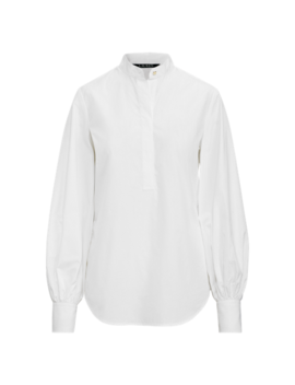 Blouson Sleeve Cotton Shirt by Ralph Lauren