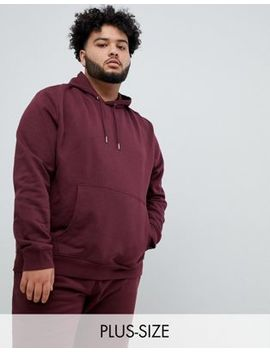 New Look Plus Hoodie In Burgundy by New Look