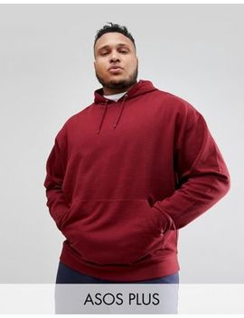 Asos Design Plus Oversized Hoodie In Burgundy by Asos Design
