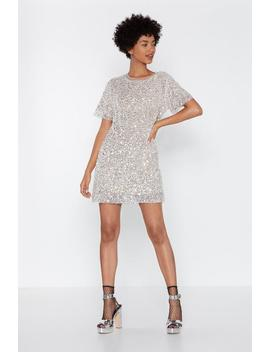 Sequin Shift Mini Dress by Nasty Gal