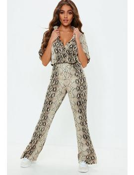Snakeskin Shirt And Pants Co Ord by Missguided