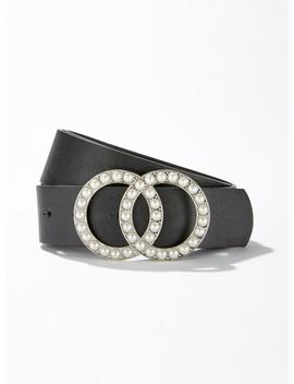Black Pearl Double Circle Belt by Miss Selfridge