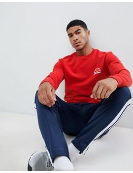 Ellesse Sweatshirt With Small Logo In Red by Ellesse