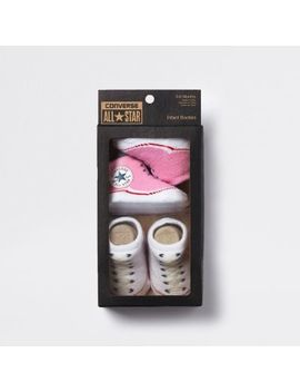 Baby Pink Converse All Star Booties by River Island