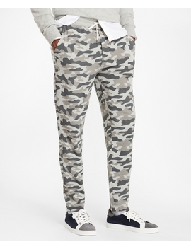 French Terry Camo Sweatpants by Brooks Brothers