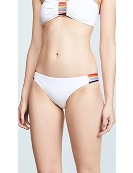 Rainbow Print Ari String Cheeky Bottoms by Milly