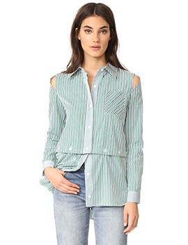 Stripe Fractured Shirting by Milly