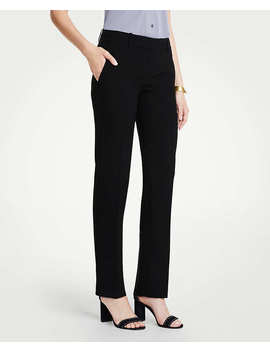 The Petite Straight Leg Pant In Doubleweave   Curvy Fit by Ann Taylor