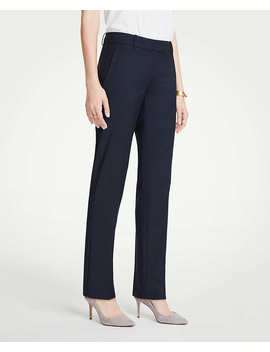 The Petite Straight Leg Pant In Tropical Wool   Curvy Fit by Ann Taylor