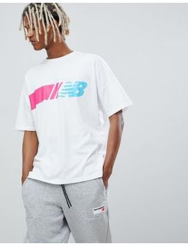 New Balance Miami Brights 90s Oversized T Shirt In White by New Balance