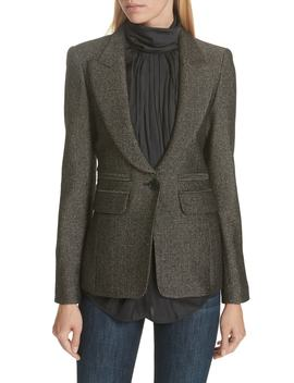 Portrait Neck Metallic Blazer by Smythe