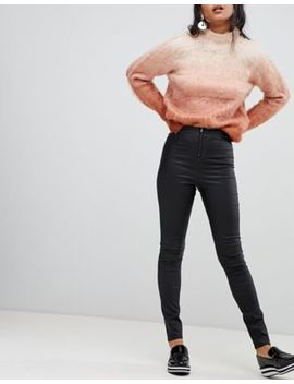 Vila Coated Skinny Leggings by Vila