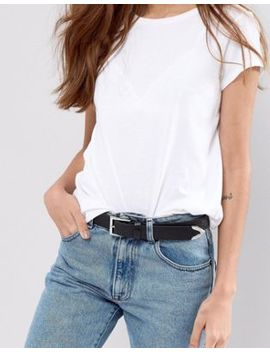 Asos Design Faux Croc Tipped Jeans Belt by Asos D