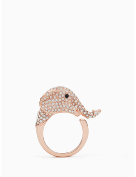 Things We Love Pave Elephant Ring by Kate Spade