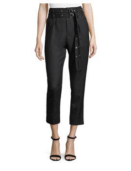 Lana High Waist Straight Leg Wool Ankle Pants by Iro