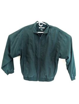 Boast Full Zip Jacket Windbreaker Vtg Green Small by Boast