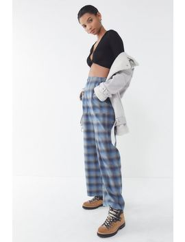 Uo Blurry Plaid High Rise Utility Pant by Urban Outfitters