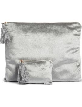 Set Of 2 Velvet Storage Bags by Levtex