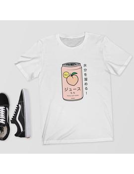 Japanese Peach Soft Drink   T Shirt/Shirt/Top/Tee   Aesthetic T Shirt,Japanese Shirt,Aesthetic,Aesthetic Clothing,Japanese T Shirt,Japan by Etsy