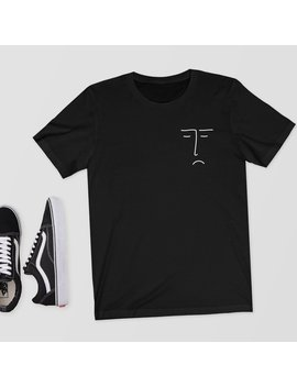 Indifferent Face   T Shirt/Shirt/Top/Tee   Aesthetic T Shirt,Aesthetic,Aesthetic Clothing,Face,Drawing,Art,Arty,Abstract,Abstract Face by Etsy