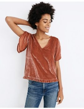 Velvet Tulip Sleeve Ruffle Top by Madewell