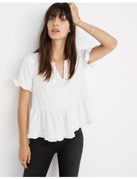 Stanza Ruffle Hem Top by Madewell