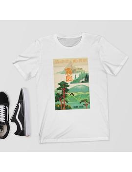 Vintage Japanese Travel Poster T Shirt    T Shirt/Shirt/Top/Tee   Aesthetic T Shirt,Japanese Shirt,Aesthetic Clothing,Vintage,Travel,Poster by Etsy