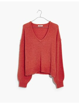 Fuzzy Balloon Sleeve Pullover Sweater by Madewell