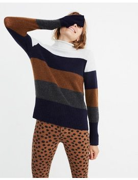 Inland Striped Turtleneck Sweater In Coziest Yarn by Madewell