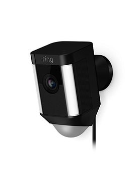Ring Spotlight Cam Wired: Plugged In Hd Security Camera With Built In Spotlights, Two Way Talk And A Siren Alarm, Black, Works With Alexa by Ring
