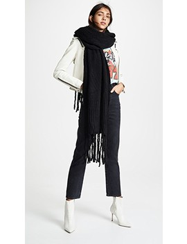 Jaden Ribbed Fringe Blanket Scarf by Free People
