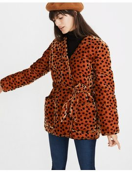 Velvet Quilted Kimono Jacket In Leopard Dot by Madewell